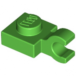 LEGO 6172373 PLATE 1X1 W/HOLDER VERTICAL - BRIGHT GREEN