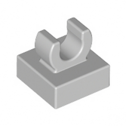 LEGO 6308012 PLATE 1X1 W. UP RIGHT HOLDER - MEDIUM STONE GREY