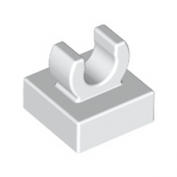 LEGO 6054551 PLATE 1X1 W. UP RIGHT HOLDER - BLANC