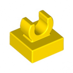 LEGO 6071270 PLATE 1X1 W. UP RIGHT HOLDER - JAUNE
