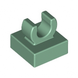 LEGO 6125669 PLATE 1X1 W. UP RIGHT HOLDER - SAND GREEN