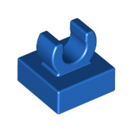 LEGO 6344028 PLATE 1X1 W. UP RIGHT HOLDER - BLUE