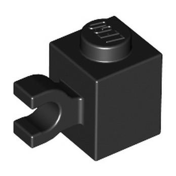 LEGO 4535765 BRIQUE 1X1 W/ HOLDER, VERTICAL - NOIR