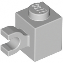 LEGO 4535764 BRIQUE 1X1 W/ HOLDER, VERTICAL - MEDIUM STONE GREY