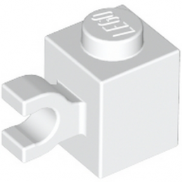LEGO 4567891 BRIQUE 1X1 W/ HOLDER, VERTICAL - BLANC