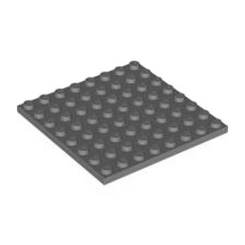 LEGO 4210802  PLATE 8X8 - DARK STONE GREY