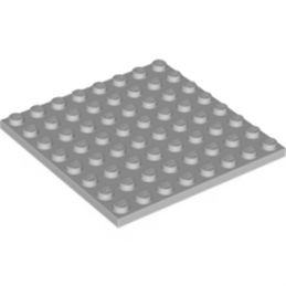 LEGO 4166618 PLATE 8X8 - MEDIUM STONE GREY