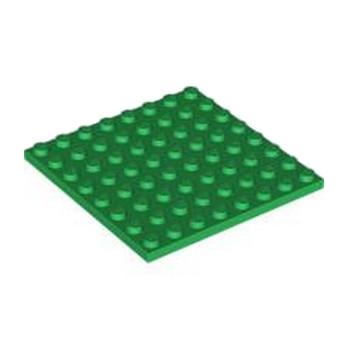 LEGO 4161677 PLATE 8X8 - DARK GREEN lego-4161677-plate-8x8-dark-green ici :