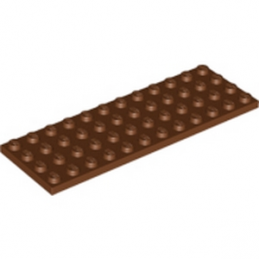 LEGO 4225520 PLATE 4X12 - REDDISH BROWN lego-6065139-plate-4x12-reddish-brown ici :