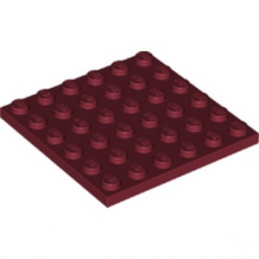 LEGO 6173945 PLATE 6X6 - NEW DARK RED
