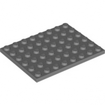 LEGO 4210794 PLATE 6X8 - DARK STONE GREY