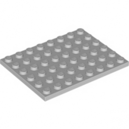 LEGO 4211408 PLATE 6X8 - MEDIUM STONE GREY