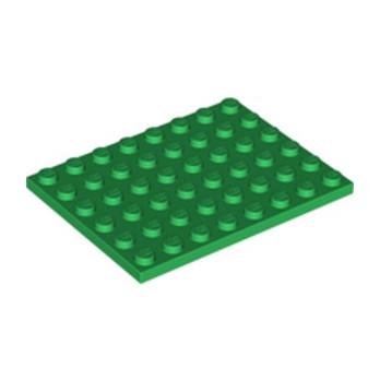 LEGO 303628 PLATE 6X8 - DARK GREEN