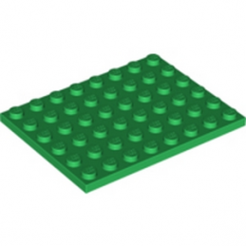 LEGO 303628 PLATE 6X8 - DARK GREEN lego-4507311-plate-6x8-dark-green ici :