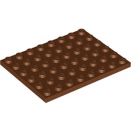LEGO 4223729 PLATE 6X8 - REDDISH BROWN
