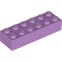 LEGO 6115808 BRIQUE 2X6 - MEDIUM LAVENDER