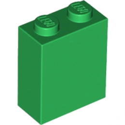 LEGO 6174411 BRIQUE 1X2X2 - DARK GREEN
