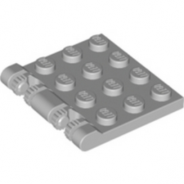 LEGO 4211841 ROOF 4X4 W. FORKS - MEDIUM STONE GREY