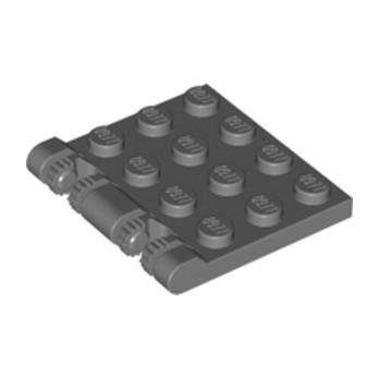 LEGO 4194562 ROOF 4X4 W. FORKS - DARK STONE GREY