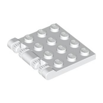 LEGO 4194558 ROOF 4X4 W. FORKS - BLANC
