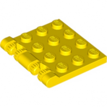 LEGO 4184179 ROOF 4X4 W. FORKS - JAUNE