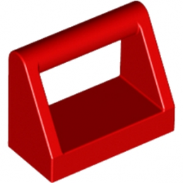 LEGO 243221 CLAMP 1X2 - ROUGE