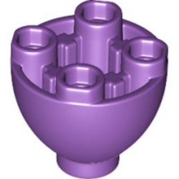 LEGO 6145298 - SPHERE 2X2X1 1/3 INVERTED - MEDIUM LILAC