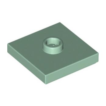 LEGO 6186826 - PLATE 2X2 W 1 KNOB - SAND GREEN