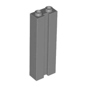LEGO 4583744 BRIQUE 1X2X5 W. GROOVE - DARK STONE GREY