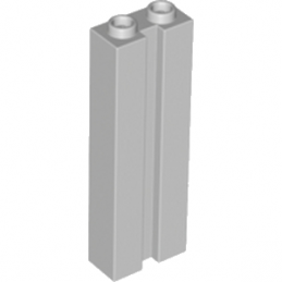 LEGO 4582153 BRIQUE 1X2X5 W. GROOVE - MEDIUM STONE GREY
