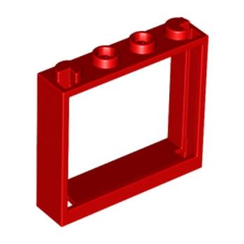 LEGO 4583716 FENETRE 1X4X3 - ROUGE