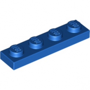 LEGO 371023 PLATE 1X4 - BLEU