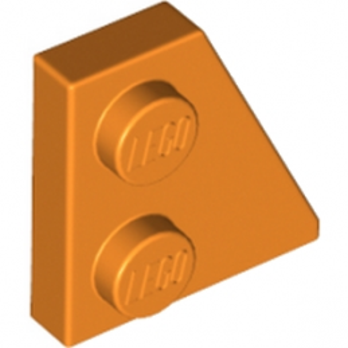 LEGO  6173928 - PLATE 2x2 27° DROITE - ORANGE lego-6173928-plate-2x2-27-droite-orange ici :