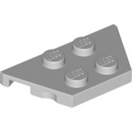 LEGO 4252368 	PLATE 2X4X18° - MEDIUM STONE GREY