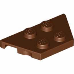 LEGO 6052822  PLATE 2X4X18° - REDDISH BROWN