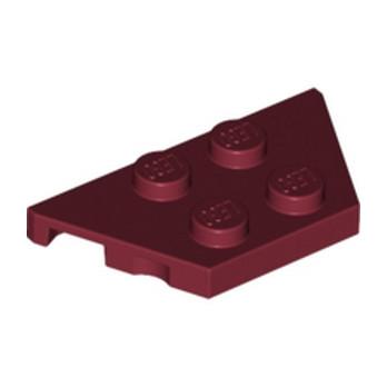 LEGO 4257178 PLATE 2X4X18° - NEW DARK RED