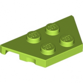 LEGO 6025027 PLATE 2X4X18° - BRIGHT YELLOWISH GREEN