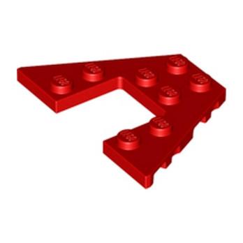 LEGO 4212517 PLATE 6X4 W/ANGLE - ROUGE
