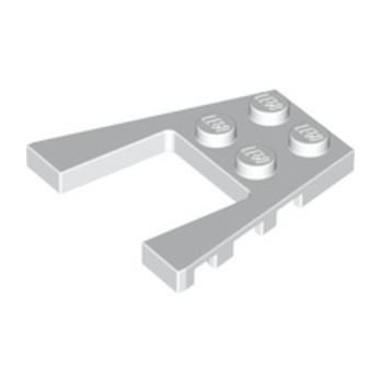 LEGO 4179871 PLATE 4X4 W/ANGLE - BLANC