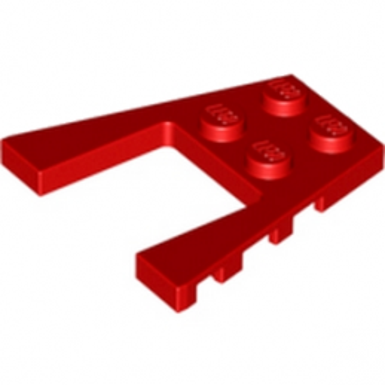 LEGO 4180429 PLATE 4X4 W/ANGLE - ROUGE