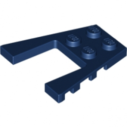 LEGO 6102890 PLATE 4X4 W/ANGLE- EARTH BLUE