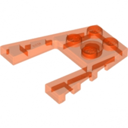 LEGO 6124831 PLATE 4X4 W/ANGLE - ORANGE FLUO TRANSPARENT