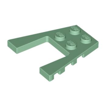 LEGO 6201690 PLATE 4X4 W/ANGLE - SAND GREEN