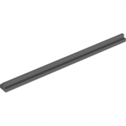 LEGO 4638990 - STRAIGHT RAIL 16M - DARK STONE GREY