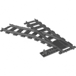 LEGO 6070018 RAIL / AIGUILLAGE GAUCHE - DARK STONE GREY