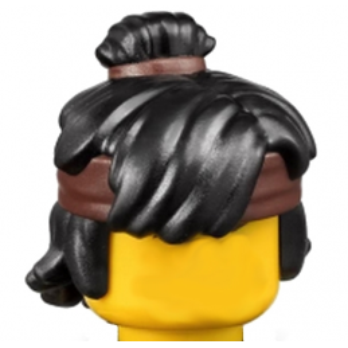 LEGO 6199428  - CHEVEUX AVEC BANDEAU -NOIR