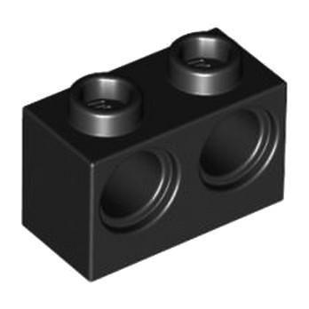 LEGO 3200026 BRIQUE 1X2 M. 2 HOLES Ø 4,87 - NOIR
