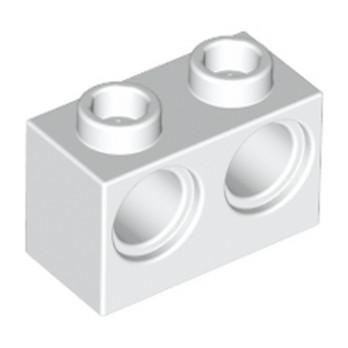 LEGO 3200001 BRIQUE 1X2 M. 2 HOLES Ø 4,87 - BLANC lego-3200001-brique-1x2-m-2-holes-o-487-blanc ici :