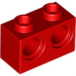 LEGO 4101764 BRIQUE 1X2 M. 2 HOLES Ø 4,87 - ROUGE