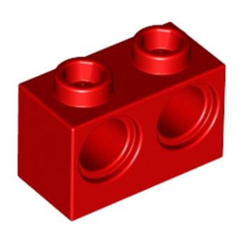 LEGO 4101764 BRIQUE 1X2 M. 2 HOLES Ø 4,87 - ROUGE